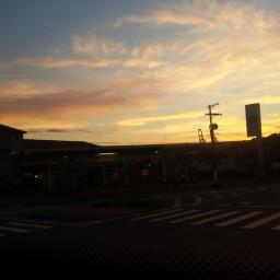Dia amanhecendo em Santos (22 de janeiro de 2014)