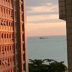 Dia anoitecendo em Santos (14 de janeiro de 2014)