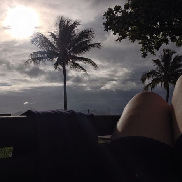 Passeio na praia de Santos (19 de dezembro de 2013)