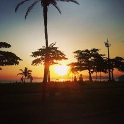 Passeio na praia de Santos (6 de fevereiro de 2014)